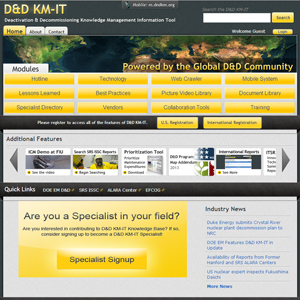 Waste and D&D Engineering and Technology Development: Deactivation and Decommissioning Knowledge Management Information Tool (D&D KM-IT)