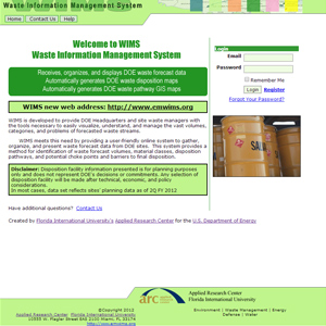 Waste Information Management System (www.emwims.org)
