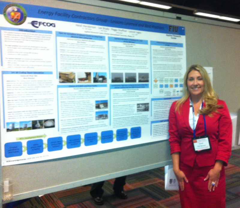 DOE Fellow Heidi Henderson, from the DOE – FIU Science and Engineering Workforce Development Initiative, presented a technical poster during the DD&R Poster Session.