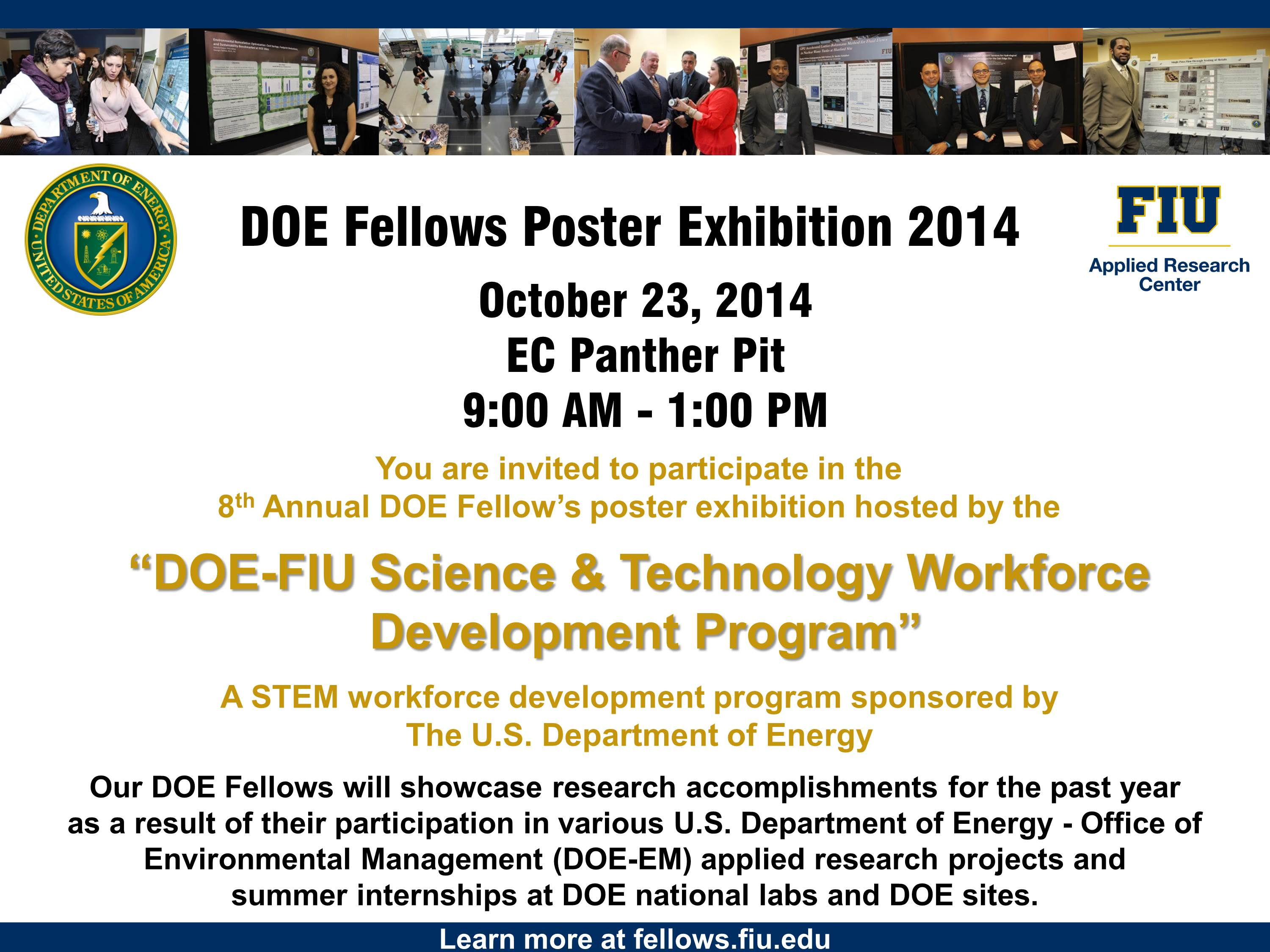 DOE Fellows Poster Exhibition 2014