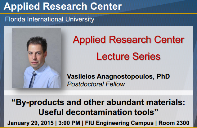 "ARC Lecture Series: ""By-products and other abundant materials: Useful decontamination tools"""