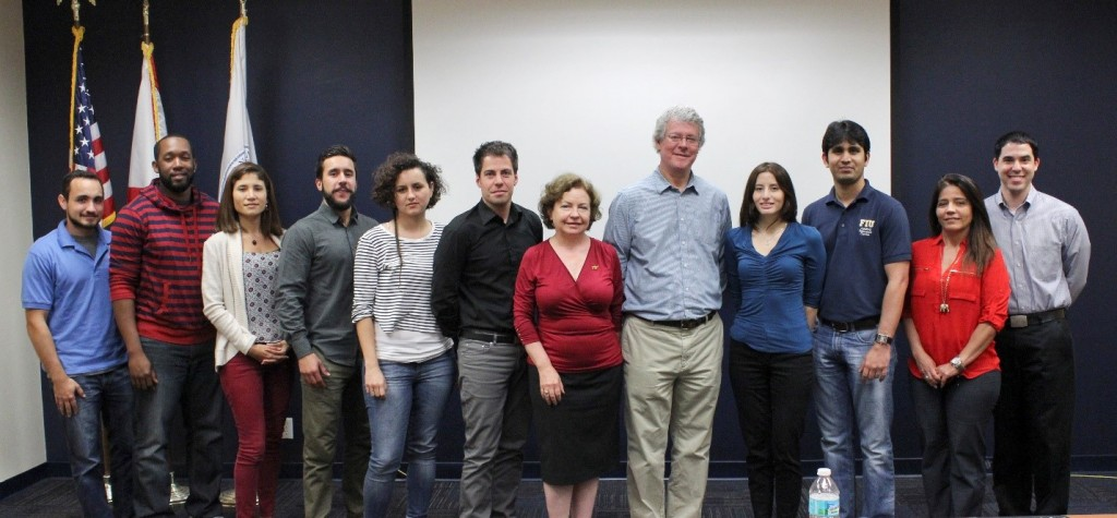 Dr. Miles Denham with ARC staff, DOE Fellows and students