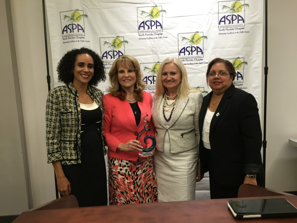 Dr. Triay was recognized as an honoree at the American Society for Public Administration's (ASPA) 12th Annual Women's History Month Reception