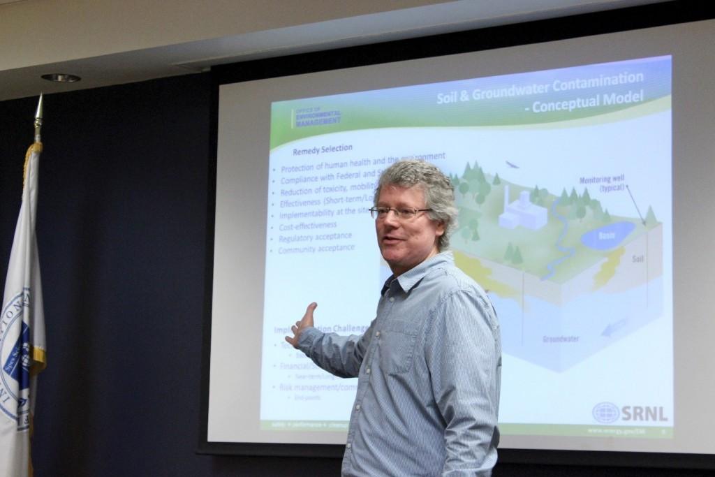 Dr. Miles Denham, at DOE Fellows Lecture Series