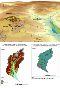 3D geographic information systems (GIS) maps, digital elevation models (DEMs) and GRID files for development of hydrological models of the Tims Branch watershed at Savannah River Site