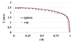 Quasi-direct numerical simulation of turbulent flow of Bingham fluid