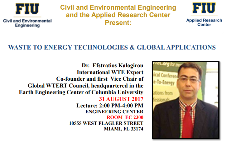 Waste to energy technologies and global applications by Dr. Efstratios Kalogirou