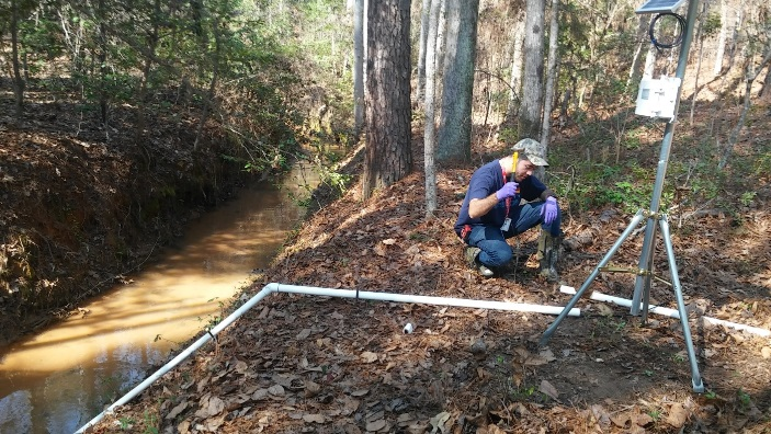 DOE Fellows from FIU Deploy Remote Monitoring Stations in Tims Branch, Savannah River Site for Environmental Data Collection