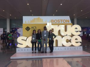 Photo left to right: DOE Fellows Frances Zengotita, Dr. Hilary Emerson, DOE EM MSIPP Intern Antony Arun Maria, and DOE Fellows Silvina Di Pietro