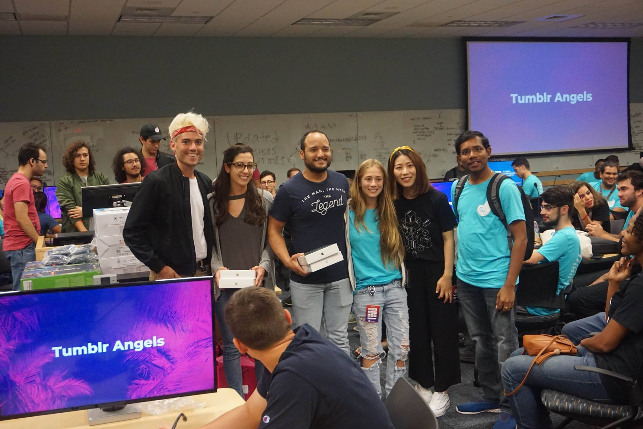 Cyber Fellows hackathon team win 2018 Miami #shellhacks Oath challenge
