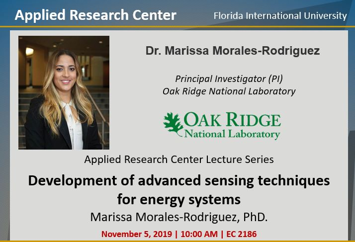Development of advanced sensing techniques for energy systems by Dr. Marissa Morales-Rodriguez